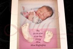 3d Gipsabdruck Babyfuß Babyhand Objektbilderrahmen Foto Dana Wagemann Burg Stargard Mecklenburg Neubrandenburg