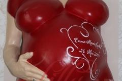 Babybauch Gipsbauch_mit Arm Gipsabdruck rot Berlin Burg Stargard Mecklenburg Lilly-ART