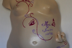 Babybauchmaske Gipsabdruck Babybauch Ausguss Gipsbauch Burg Stargard Lilly-ART