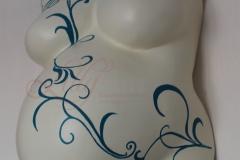 Babybauchmaske Gipsbauch schwanger Premium Burg Stargard Lilly-ART