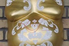 Gipsabdruck-Babybauch-Aufarbeitung-und-Gestaltung-Premium-gold-barock-Lilly-ART-Burg-Stargard-Mecklenburg