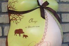 Gipsabdruck-Babybauch-Premium-Neglige-Wildschwein-Baum-Lilly-ART-Burg-Stargard