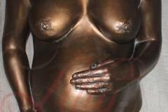 Gipsabdruck Babybauch mit 2 Armen Rostock bronze Burg Stargard Mecklenburg Lilly-ART