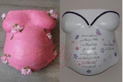 Gipsabdruck Babybauch schwanger Erinnerung Aufarbeitung Premium Beleuchtung Lilly-ART