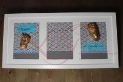 Gipsabdruck Babyhand Babyfuss Bilderrahmen Lilly-ART